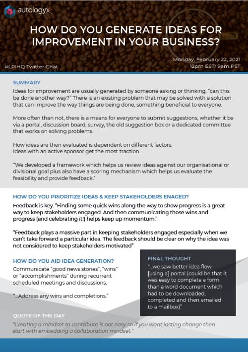 LPIHQ Idea generation for your business